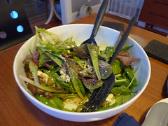 Salad with Green beans, olives, and honey thyme vinaigrette