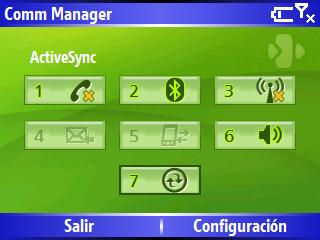Comm Manager Windows Mobile 5 HTC Excalibur S620