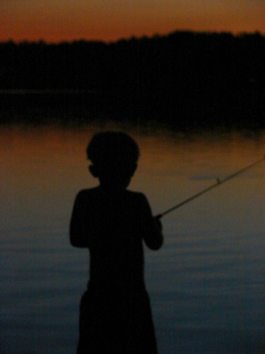 Qunn fishing at sunset