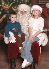 Kyah and Noah with Santa
