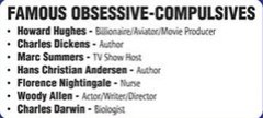 Famous Obsessive-Compulsives
