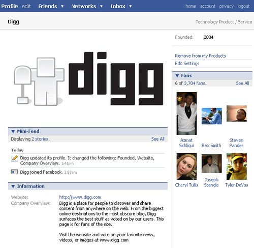 Digg's Official Facebook Group