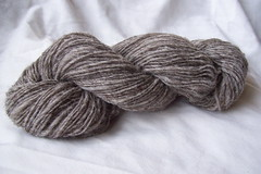grey thick and thin skein
