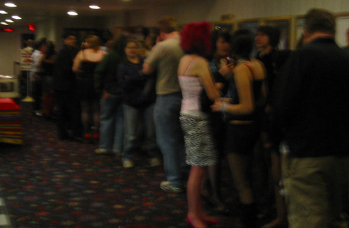 20070520 - Rocky Horror Picture Show - IMG_2211 - Shannon, Kipp - standing in line