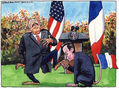 Steve Bell on Sarkozy