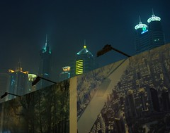outside a Pudong construction site