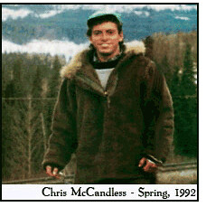 Picture of Chris Mccandless before his journey into the wild