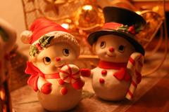 Weihnachtsschneemänner