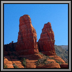 Two Nuns rock formation, Sedona AZ