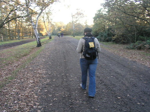 Nicky walking through Wimbledon Common