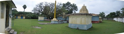 Panaromic view - Back view of the Temple