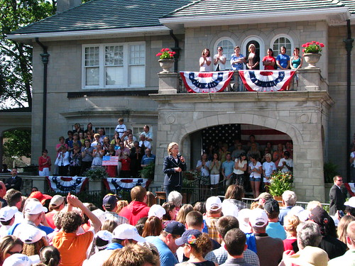 Hillary in Mayfield, Kentucky