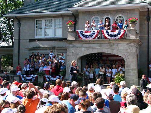 Hillary in Mayfield, Kentucky