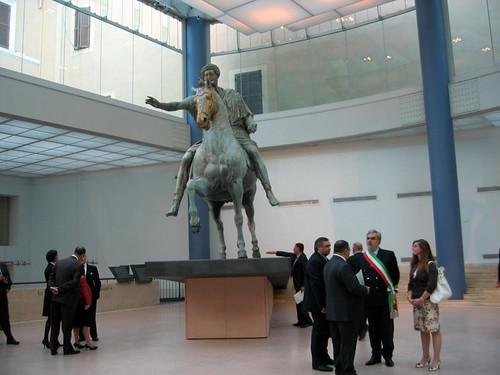 Statue of Marcus Aurelius.