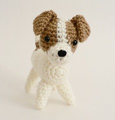 crocheted jack russell terrier view 3