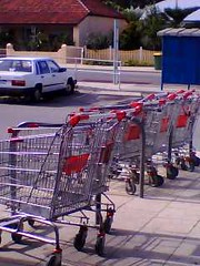 Trolleys in the bike bays