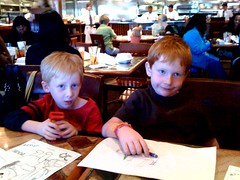 Jacob & Joey at Carrabbas for Papa's 60th bday dinner!