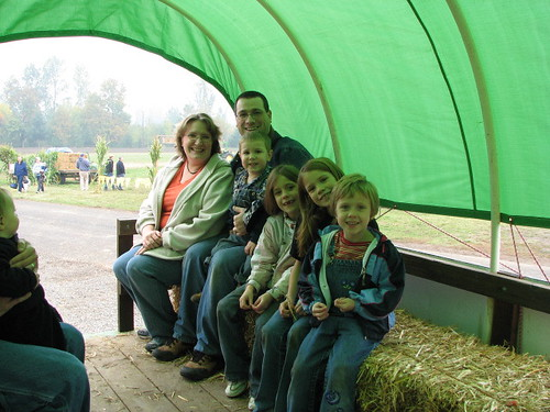 The fam on a hayride