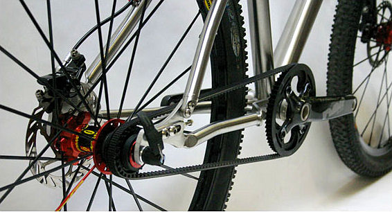 Lynskey titanium singlespeed mountain bike with BELT DRIVE