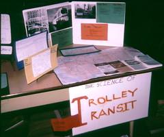 Trolley Transit science fair exhibit - 4th grade