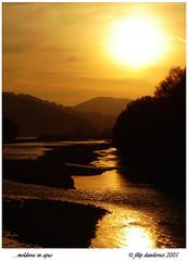 Moldova River at sunset