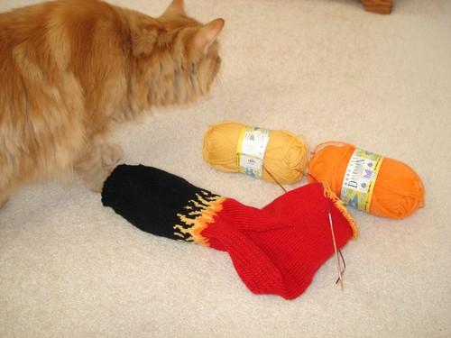 Flame Sock and Simon