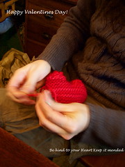 Adrienne making a heart