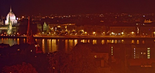 View from Buda Castle to the parliament in Pest.
