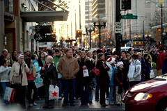 black friday crowds in downtown seattle