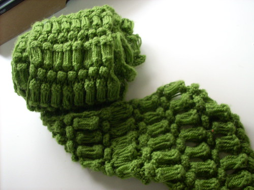 * This scarf almost looks like its crochet, but its not!