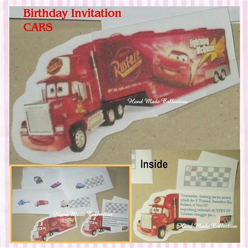 Tristan's Birthday Invitation CARS