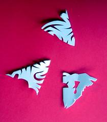 folded snowflakes