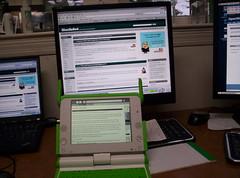 Using my XO to view my blog