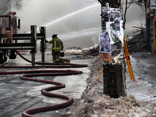 Water works at Queen West fire