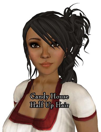 Candy House Half Up Hair