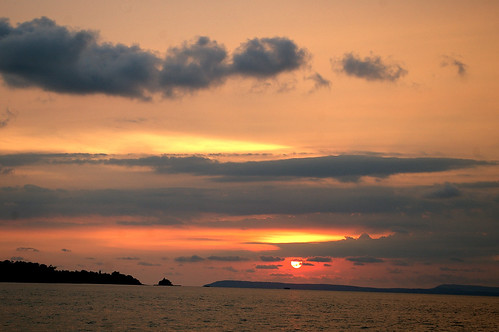 sunset over sihanoukville