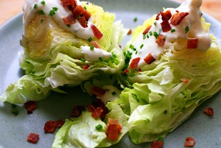 iceberg wedges with blue cheese dressing