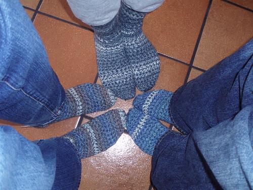 Debbie's dudes' socks2 Dec 2007