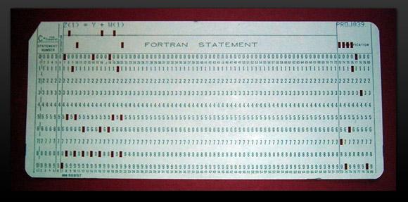 Punch card Fortran program