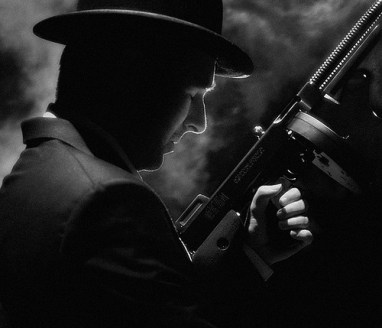 Man with Tommy Gun