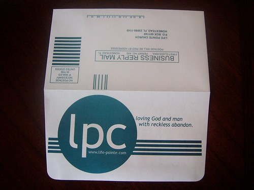 life pointe church giving envelope outside