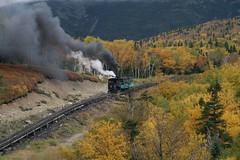 2008-09-27-MtWashCogRwy-green-train-ascent1