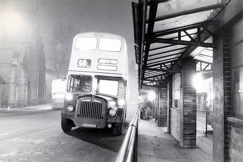 889MDH - Walsall at night c 1975