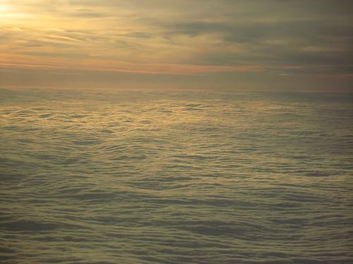 Wolkendecke über der Ostsee