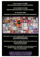 Affiche marche mondiale des femmes