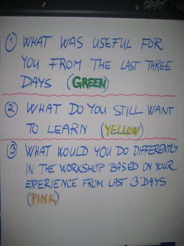 Evaluations questions