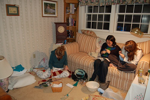 Crochet/Knit Night at the Mustone's