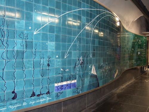 Art at the metro station Universitetet