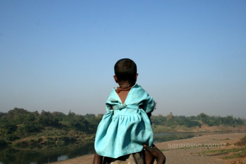 Stopping to look at the river, Gujarat, India