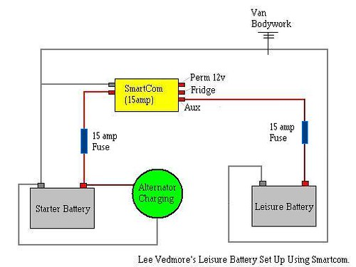 leisure battery charging system using smartcom  vw t4 forum